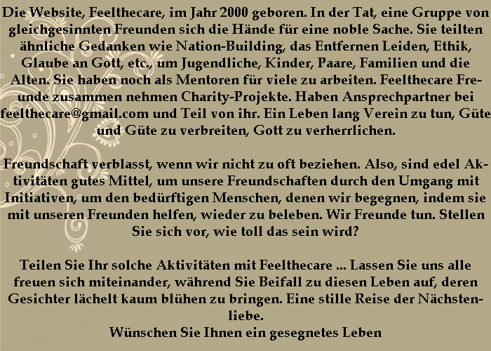 Feelthecare Message in German