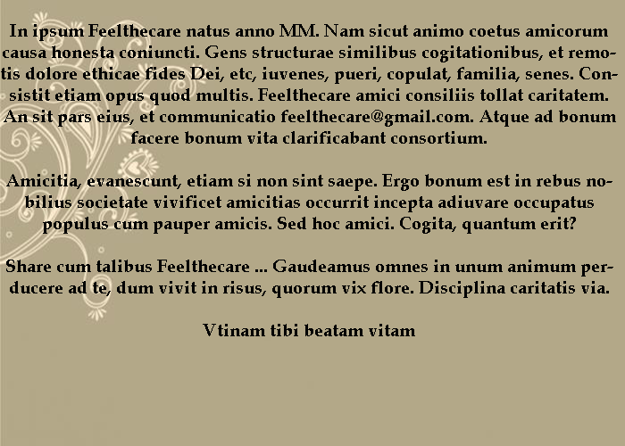 Feelthecare Message in Latin